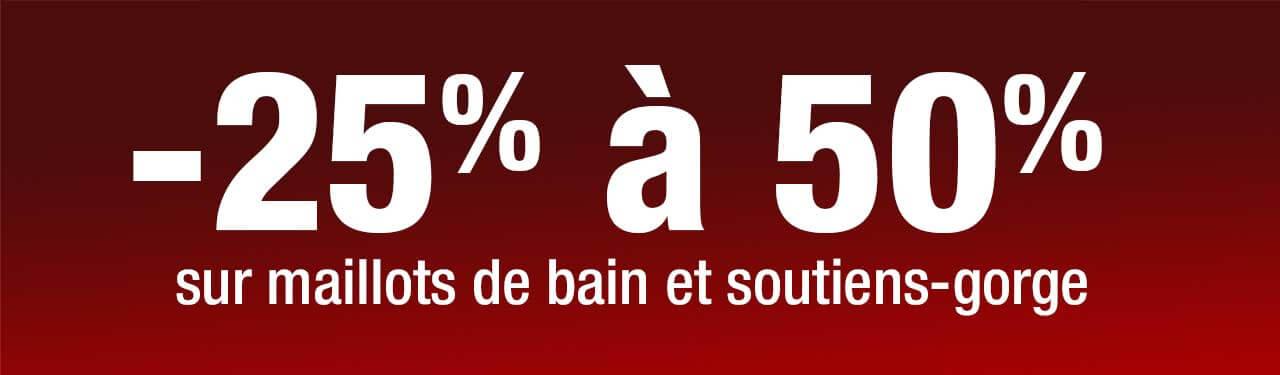 Maillot - 25 à 50% de rabais avril 2020